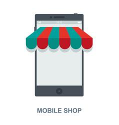 Mobile shop cencept design vector