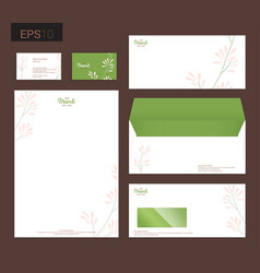 modern stationery set in format letterhead vector image