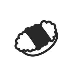 monochrome japanese sushi icon on white background vector image