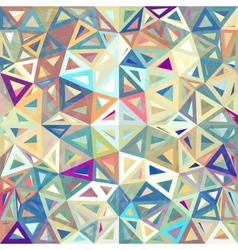 Mottled abstract triangles background vector image
