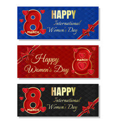 Multicolored backgrounds for womens day happy vector