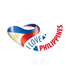 National flag philippines in shape vector