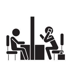 negotiation room coworking office black vector image