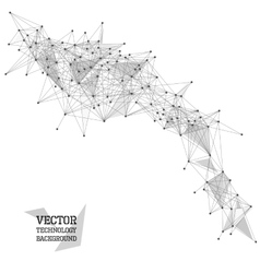 Network abstract polygonal background vector image
