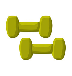 Pair dumbbells fitness and sports equipment vector