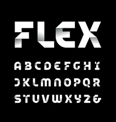 Paper font alphabet with fold effect letters vector