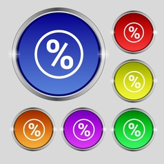 percentage discount icon sign Round symbol on vector image