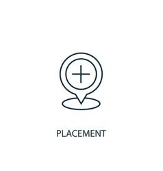 Placement concept line icon simple element vector