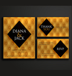 premium luxury wedding invitation card design vector image