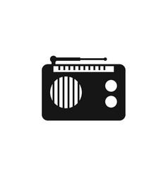 Radio icon old retro receiver waves tuner sign vector