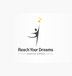 reach your dreams creative symbol concept success vector image