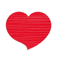 Red heart lines white vector