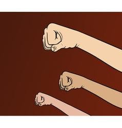 Revolution fists vector