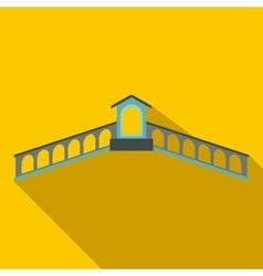 Rialto Bridge Venice icon flat style vector image