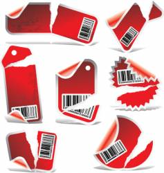 ripped labels vector image