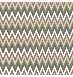 seamless chevron pattern cute green and brawn vector image