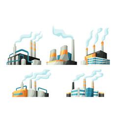 set factories or industrial buildings vector image