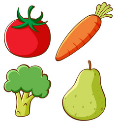 Set isolated vegetables vector