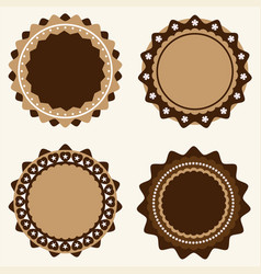 set of vintage and modern logo badges and labels vector image