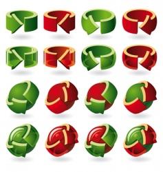 set round arrow icons vector image