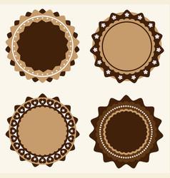 set vintage and modern logo badges and labels vector image