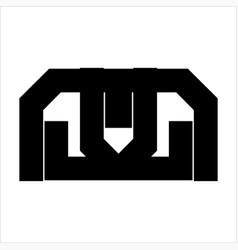 simple m mw mll mlj initials simple geometric logo vector image