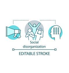Social disorganization conflicts concept icon vector