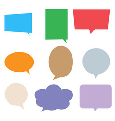 speech bubbles in pop art style colorful set vector image