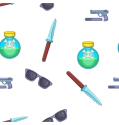 Spy tools pattern cartoon style vector
