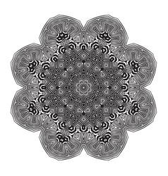 Stylish mandala with zebra pattern vector