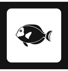 Surgeon fish icon simple style vector image