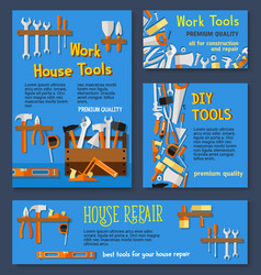 Templates house repair work tools vector