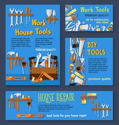 templates of house repair work tools vector image