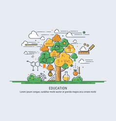 tree knowledge vector image