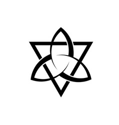 Triquetra with triangle logo trinity knot tattoo vector