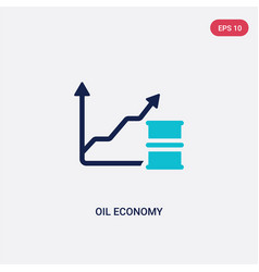 two color oil economy icon from cryptocurrency vector image
