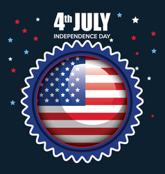 Usa independence day seal stamp vector