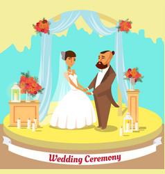 Wedding ceremony flat vector