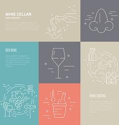 Wine Industry Banners vector
