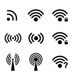 Wireless and wifi vector image