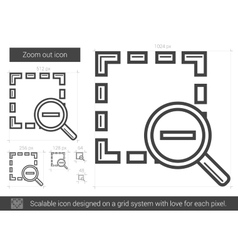 Zoom out line icon vector image