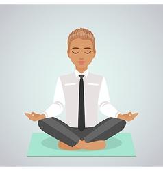 boy doing yoga vector image