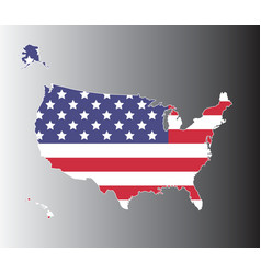 United states map on black to gray background vector image