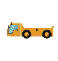 yellow airport track vector image