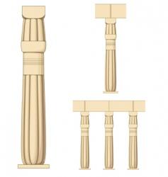 ancient egypt coloumn vector image vector image