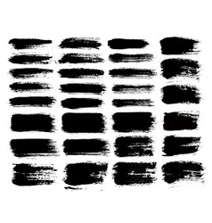 brush strokes set 1 vector image vector image