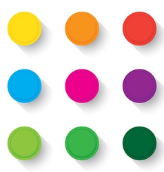 Empty buttons vector image vector image