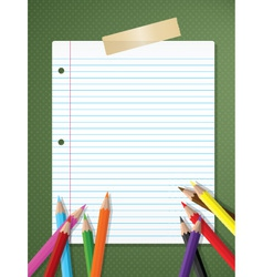 Stationery background vector image vector image