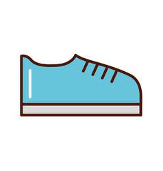 brightly shoe cartoon vector image vector image