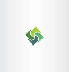 green business square logo element sign vector image